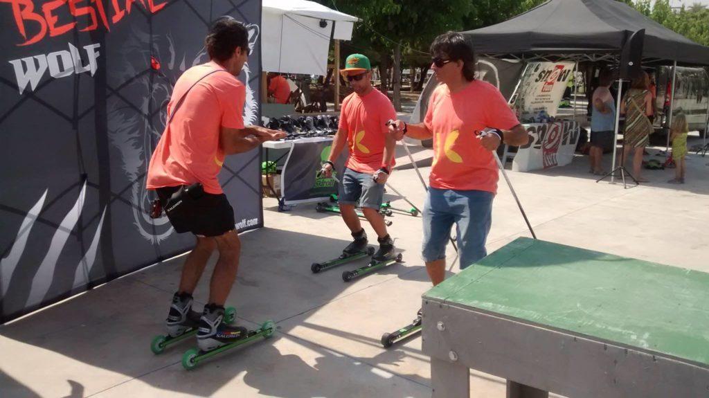 junitas beach festival clases rollerski Bonés Skiroll
