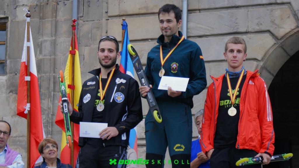 Podio campeonatos rollerski España 2015