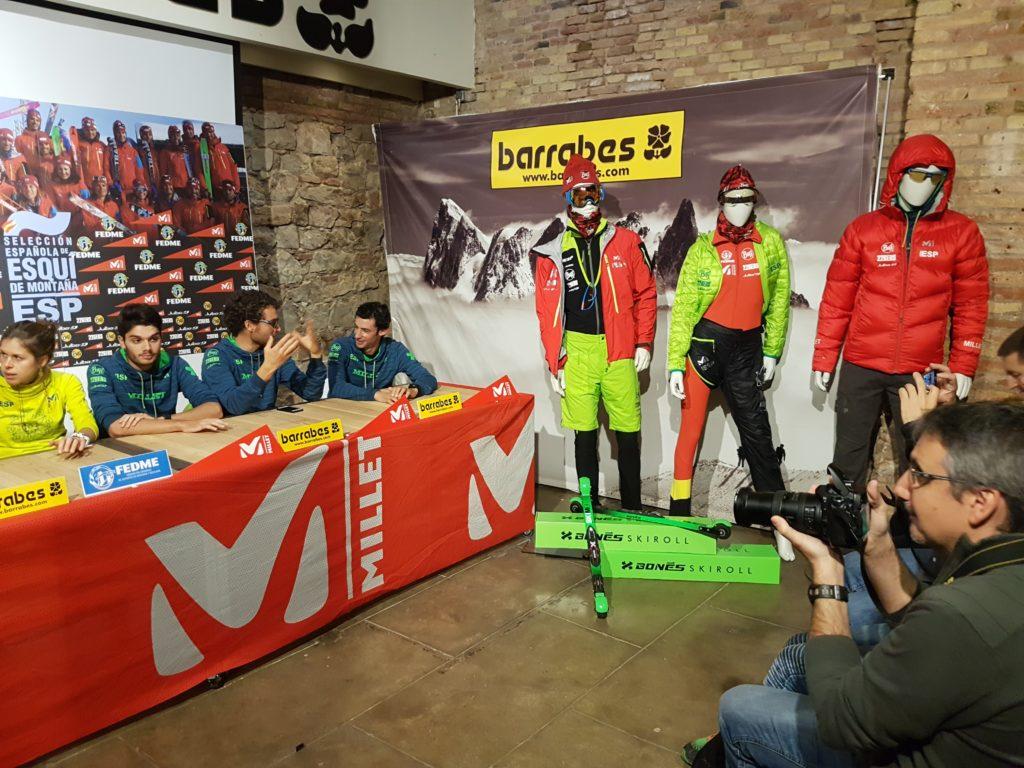 Presentación Selección Nacional Esquí de montaña Kilian Bonés Skiroll