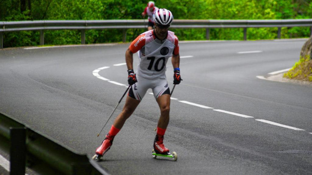 Carlos Lannes, ganador subida Arrate rollerski 2015 con Bonés Skiroll