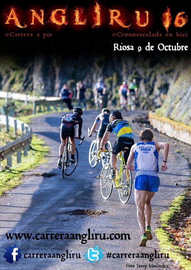 subida Angliru rollerski Asturias