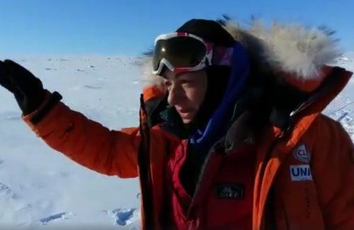 Entrenamiento con rollerski para la primera expedición femenina al casquete de Barnes