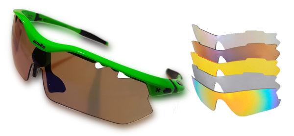 "Gafas deportivas Bonés ""Pyrenees"" 6 lentes"