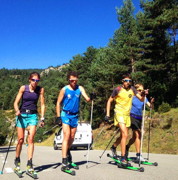 Equipo nacional esquí de montaña con rollerski Bonés Skiroll