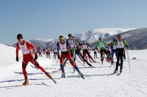 competición de esquí de fondo
